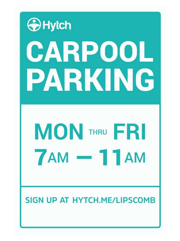 Hytch Carpool Parking Sign