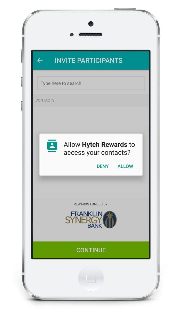 Figure 2: Allow Access to Contacts